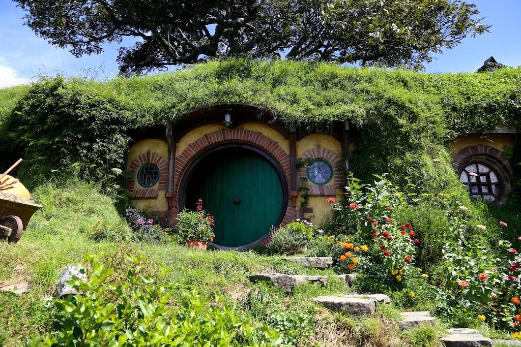 Bilbo Baggins home at Hobbiton Movie Set Tour