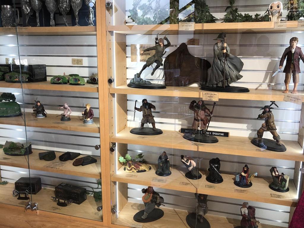 Figurines in case