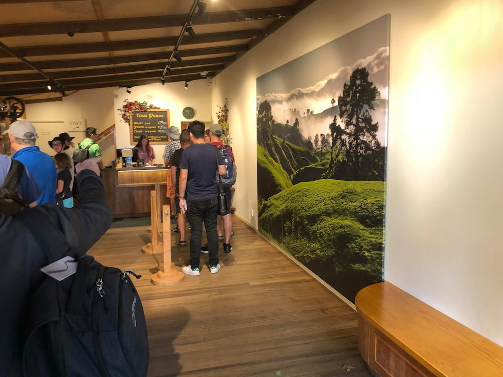 Ticketing area Hobbiton Movie Set Tour