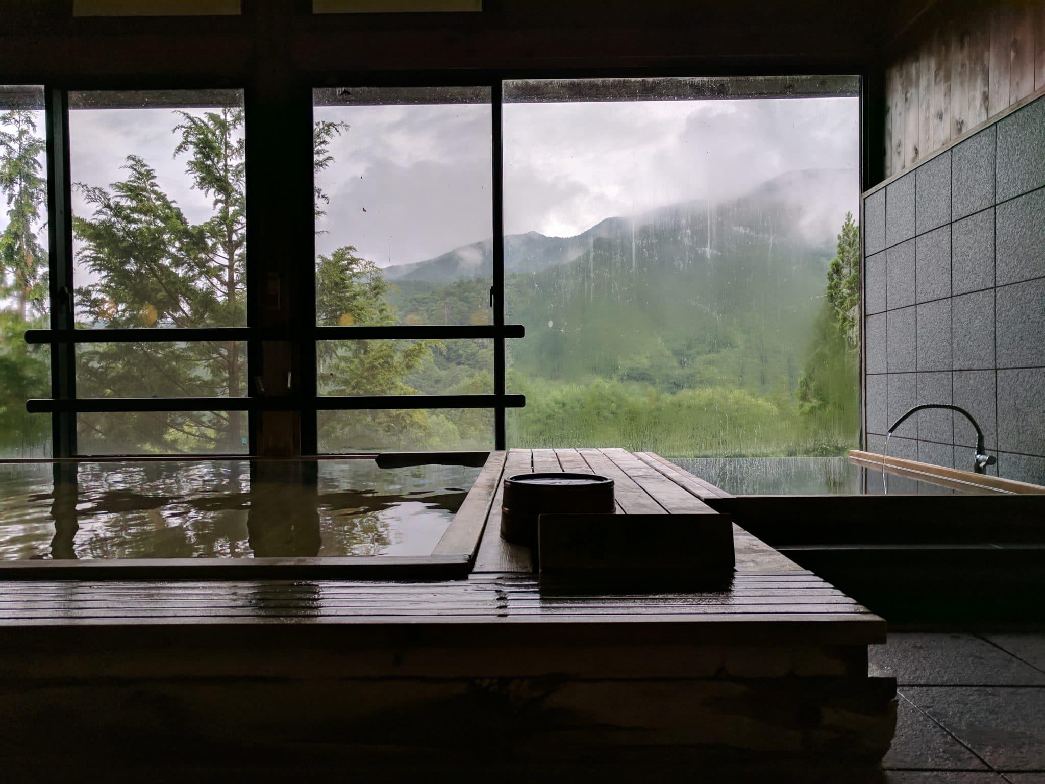Forest Hotel Fuki inside onsen