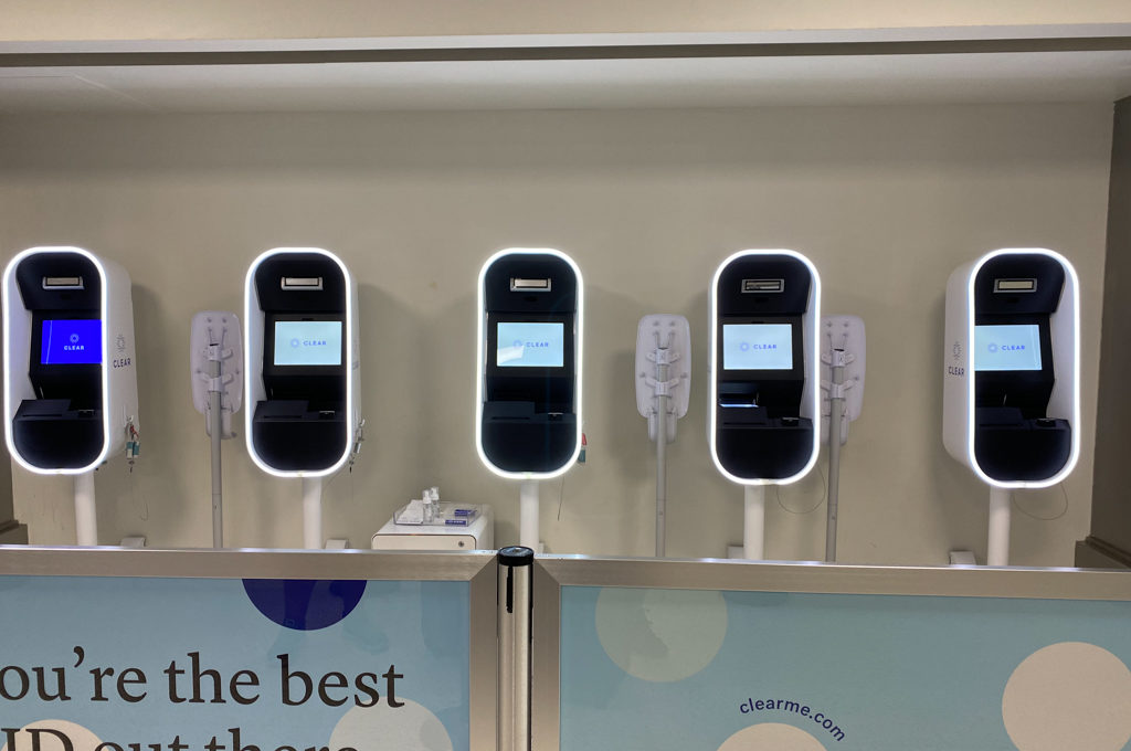 Picture of kiosks for CLEAR