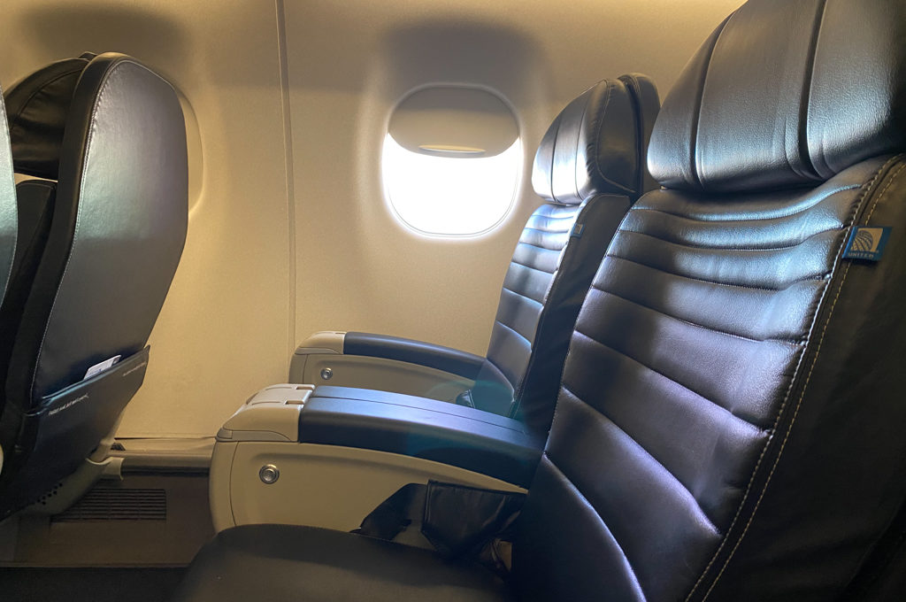 Picture of first class seats on United plane