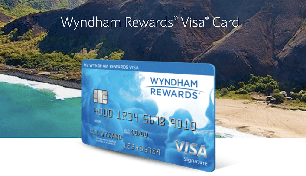 Screenshot of the Wyndham Rewards Visa