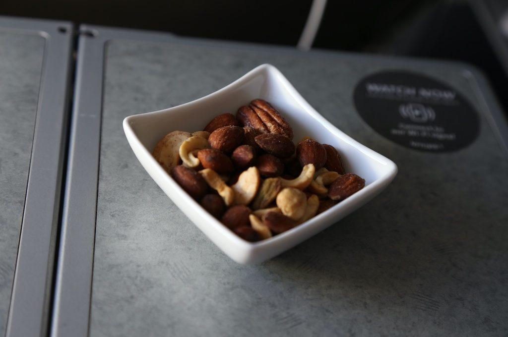 Bowl of mixed nuts.