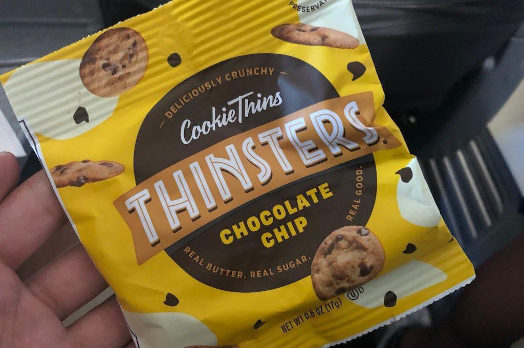 Bag of chocolate chip cookies.