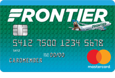 Card art of the Frontier Airlines World Mastercard.