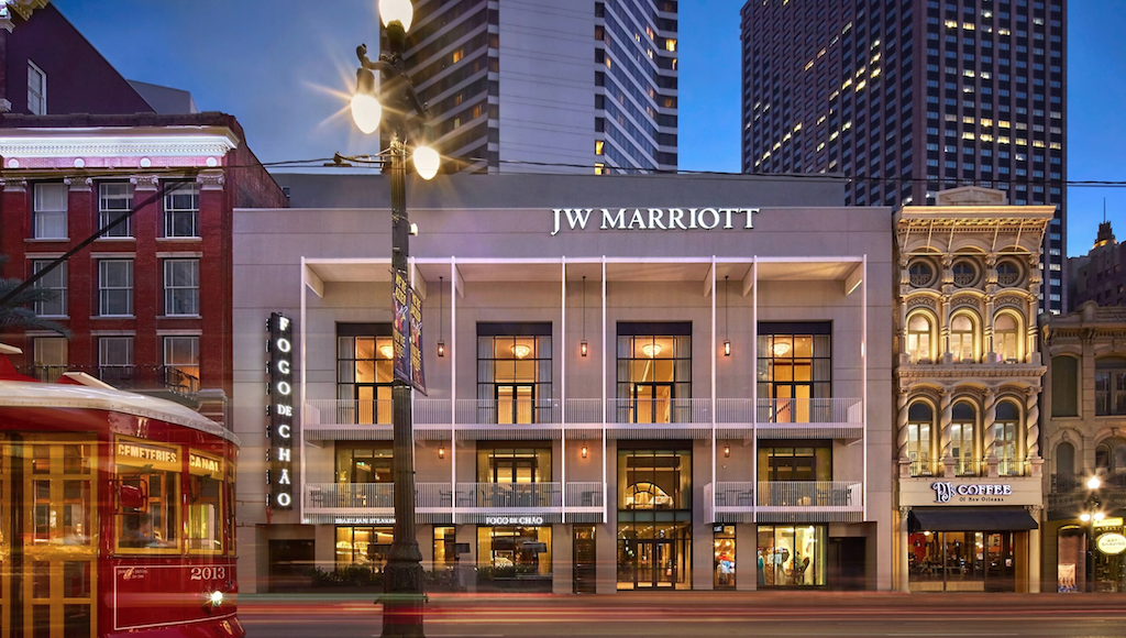 Exterior of the JW Marriott New Orleans.