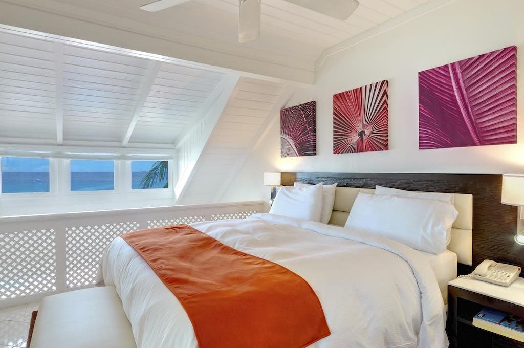 Bi Level guest room with ocean views at Crystal Cove, All-Inclusive.