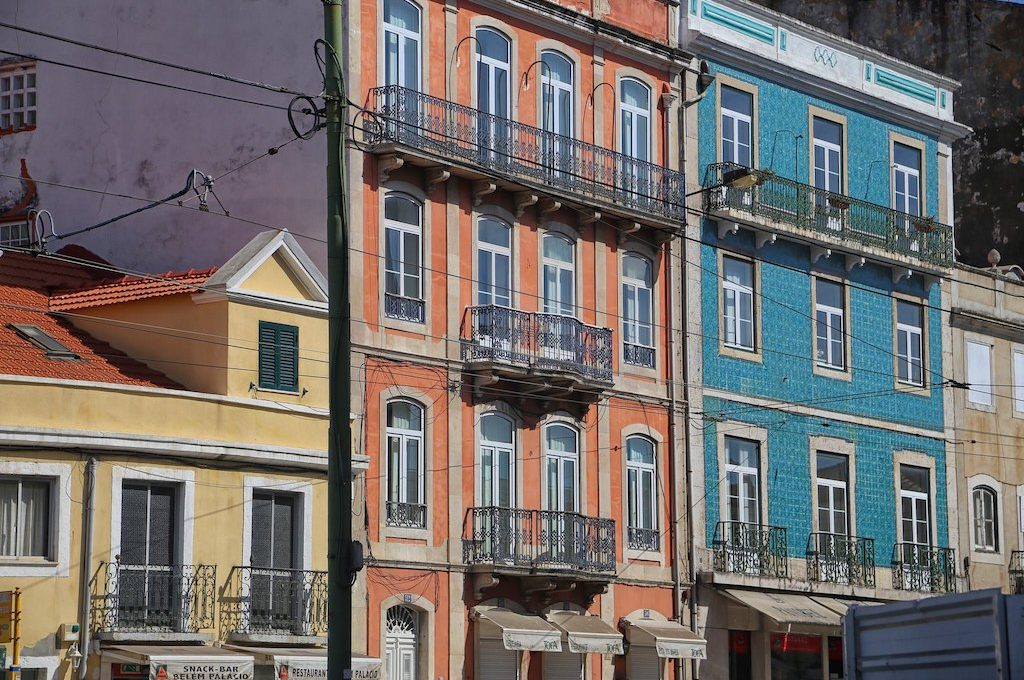 Buildings in Lisbon Portugal