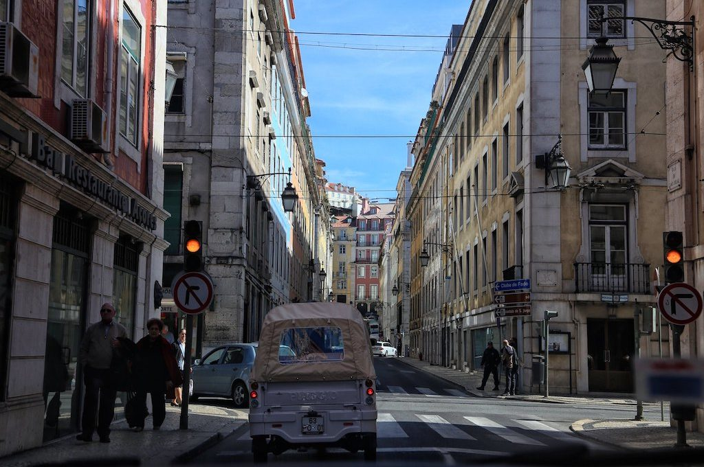 Calm area of Lisbon Portugal