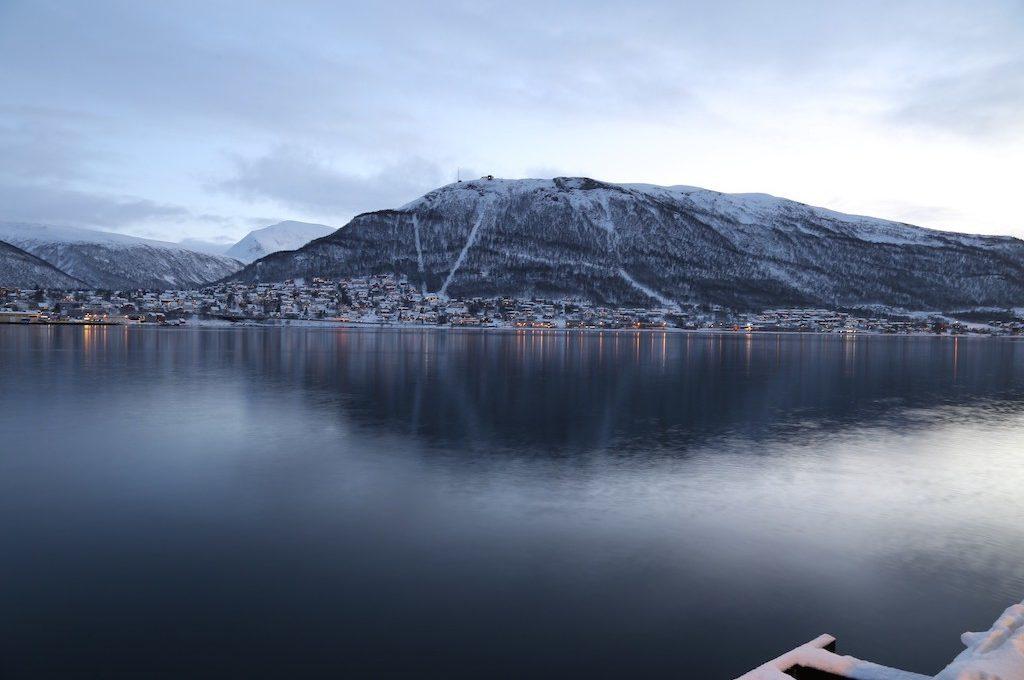 Civil twilight Tromso Norway