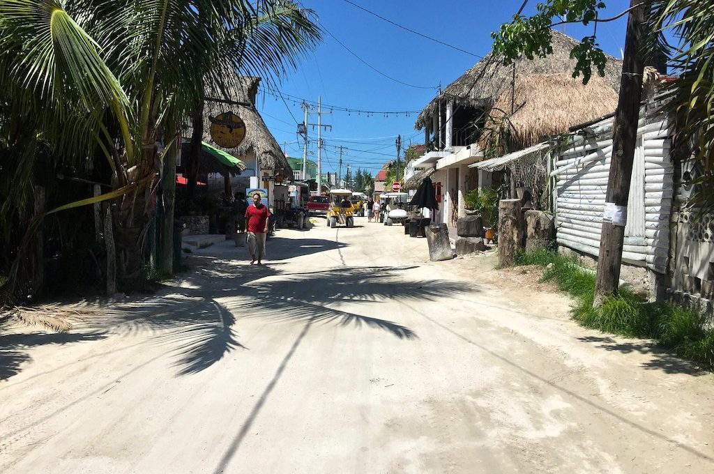 Dirt road in Holbox