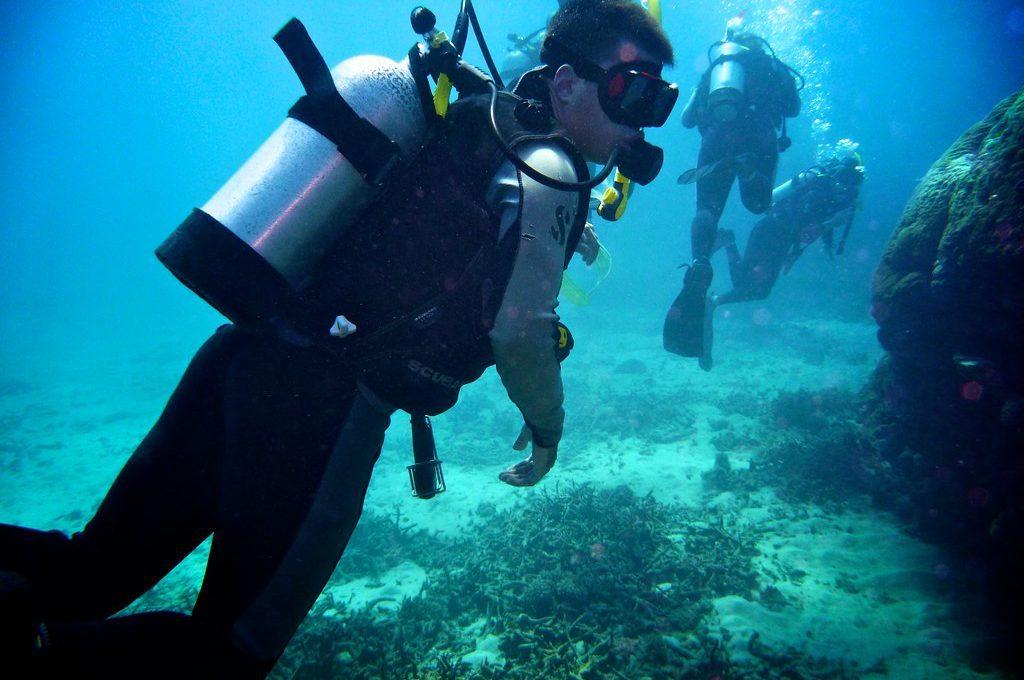 Great Barrier Reef Australia scuba diver