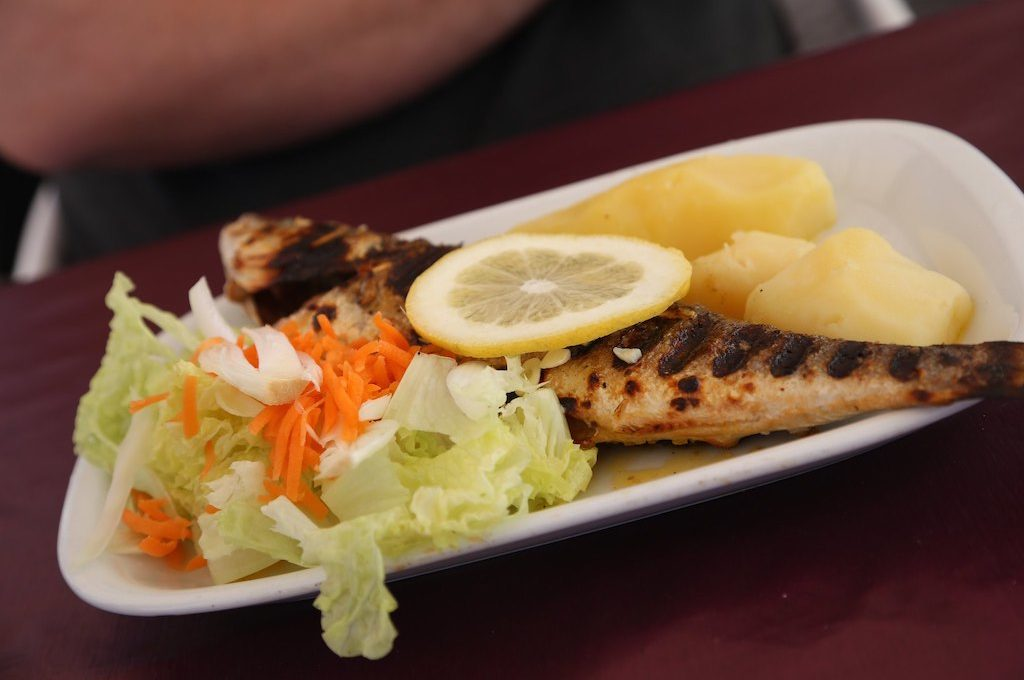 Grilled sea bass Portugal