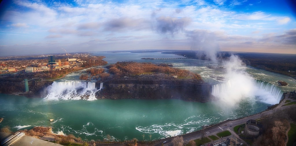 Niagara Falls Panoramic from Skylon Tower