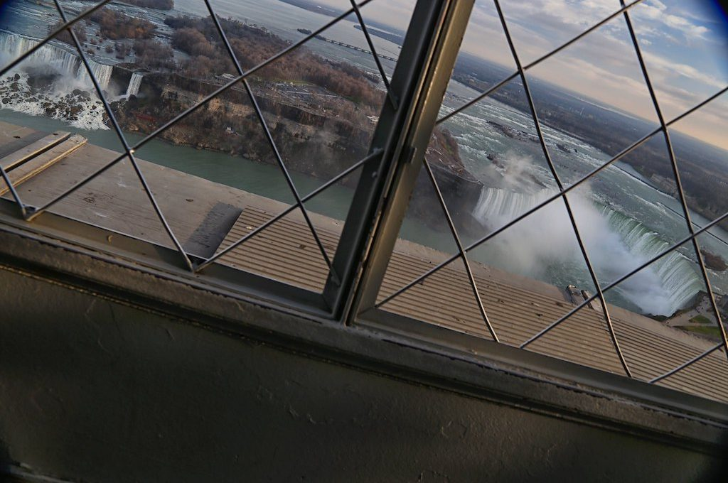 Niagara Falls from Skylon Tower observation deck