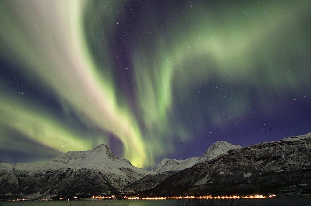 Northern lights Christmas Tromso Norway
