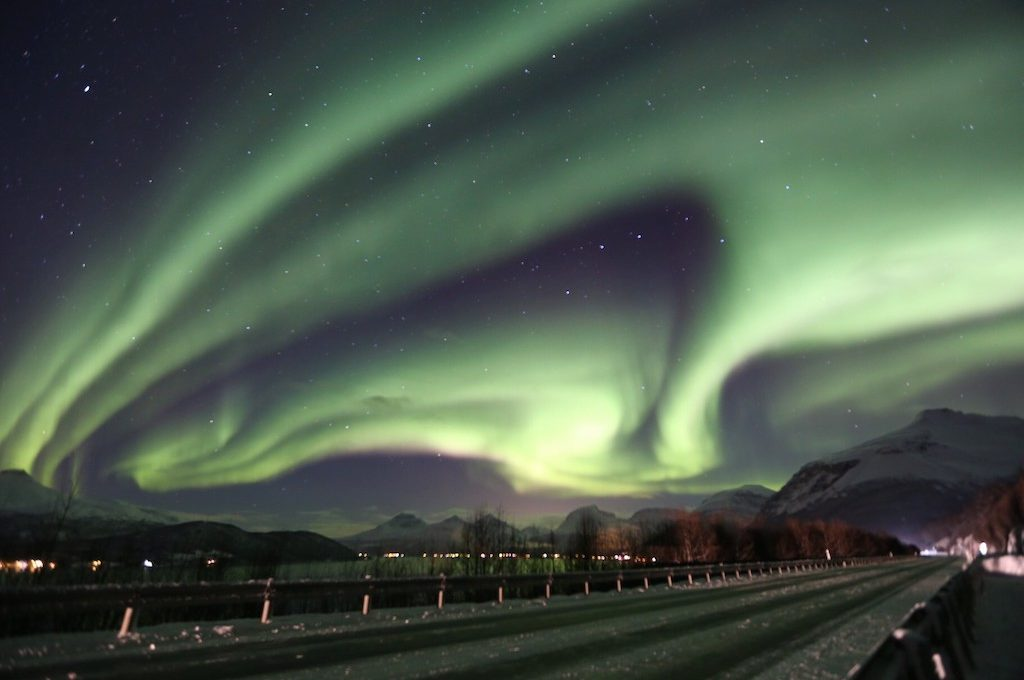 Northern lights over north Norway