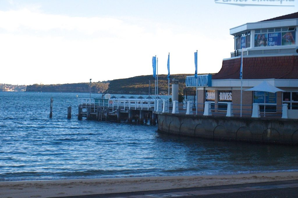 Outside Manly Sea Life Sanctuary