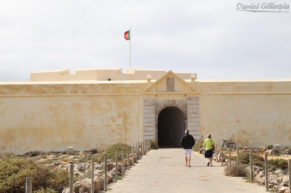 Outside fortress at Fortaleza de Sagres Portugal