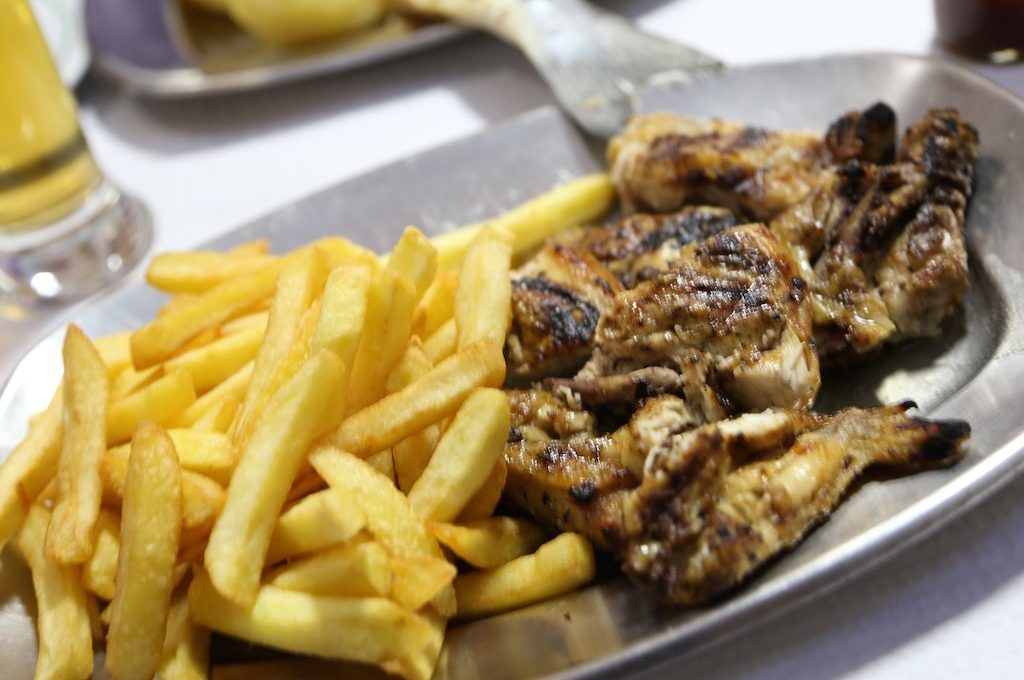 Piri Piri chicken with french fries