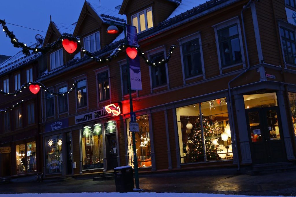 Store fronts Tromso Norway