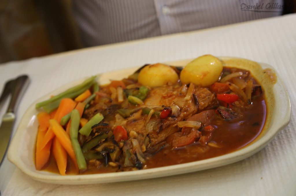 Tuna steak at Algarve Portugal