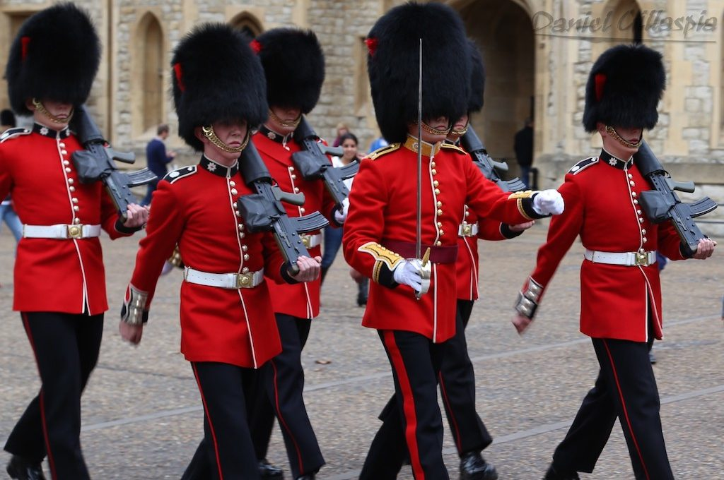 Changing of the guards at Tower of London
