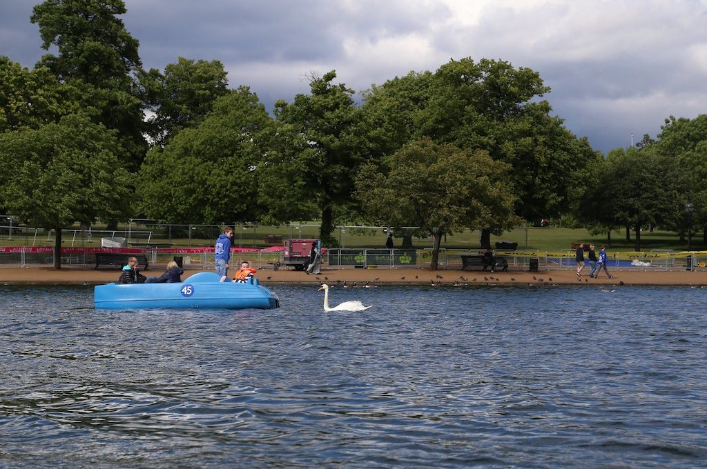 Pedal boats Hyde Park London