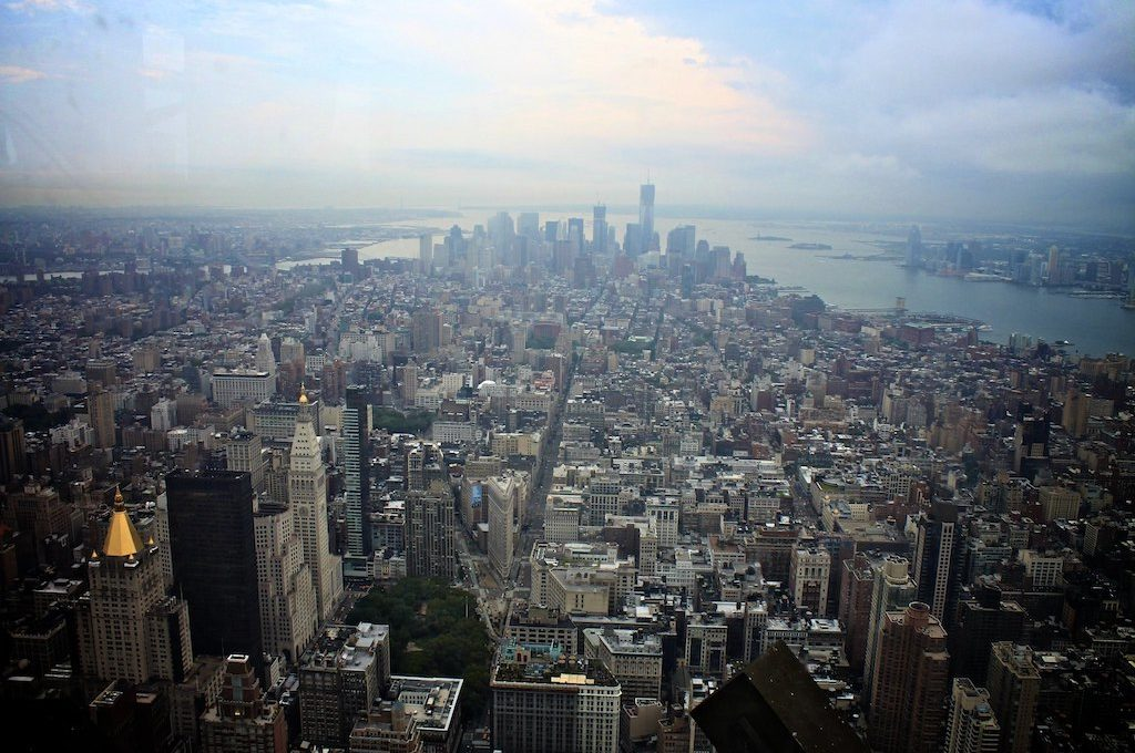 View from the top of the Empire State Building