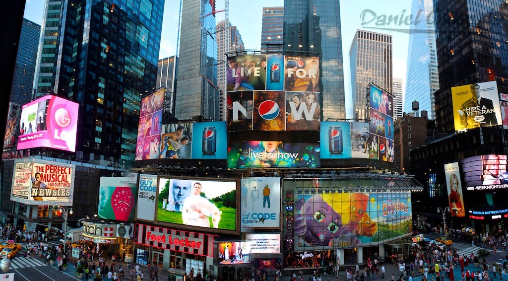 View of Times Square from the Lion King Theater