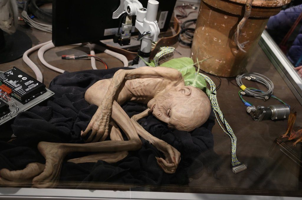Voldemort creature at Harry Potter Studio tour London