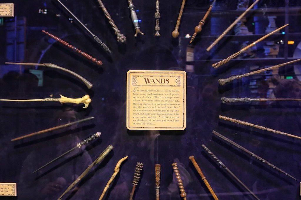 Wands at Harry Potter Tour London