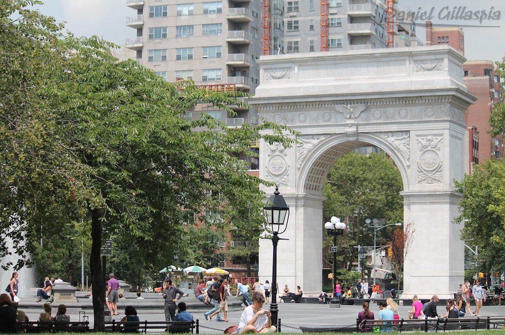 Washington Square Park in the Greenwich Village New York