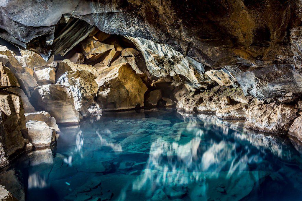 Cavernous pool at Grjotagja Geothermal Spring
