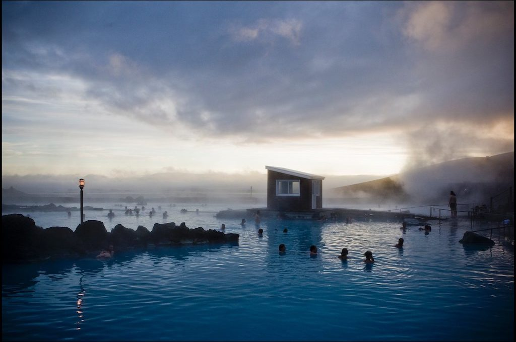 People relaxing at Myvatn Nature Baths