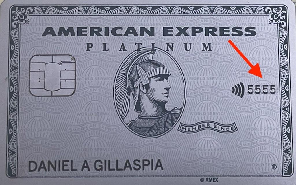 American Express CVV number on card.
