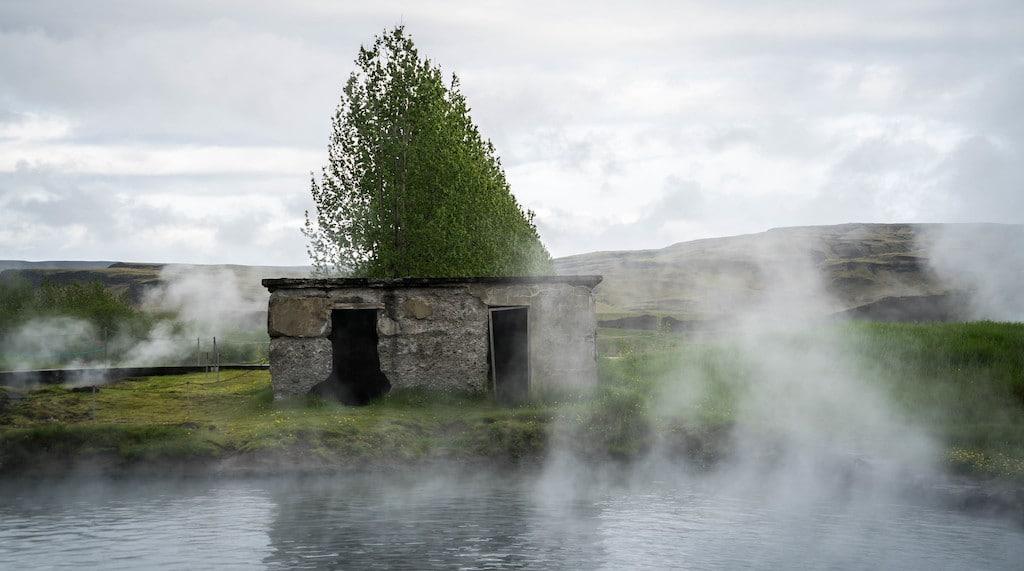 Stone building at Secret Lagoon