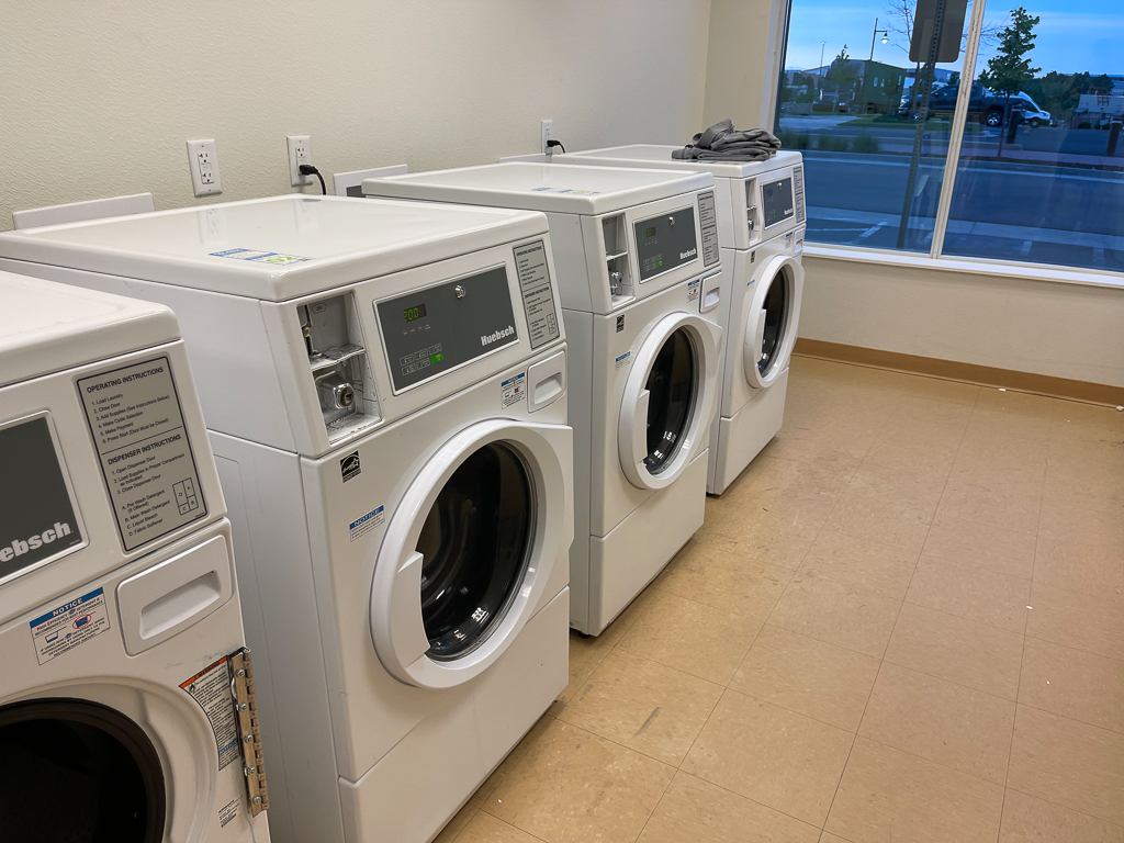 Extended stay laundry room