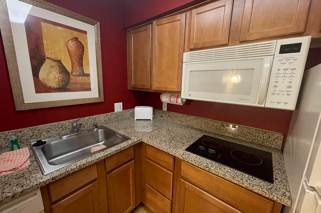 Extended stay stovetop and microwave at the Residence Inn