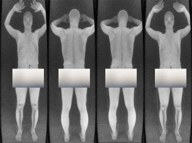 TSA body scan image man