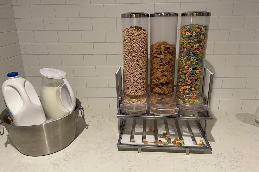 cereal breakfast towers