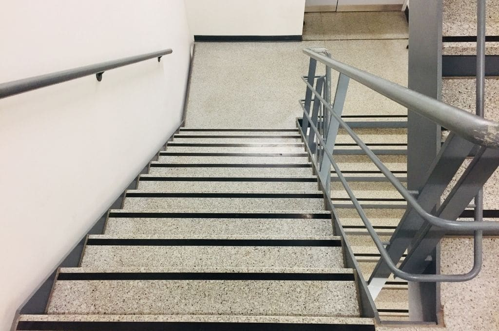 Emergency exit stairs