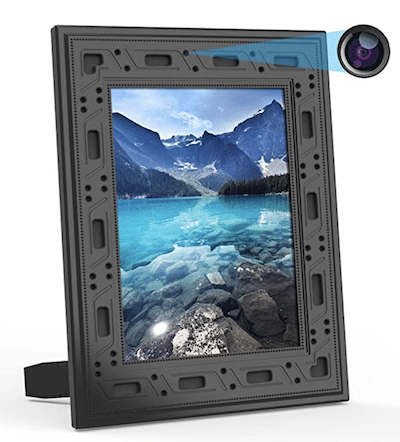 Hidden camera in picture frame