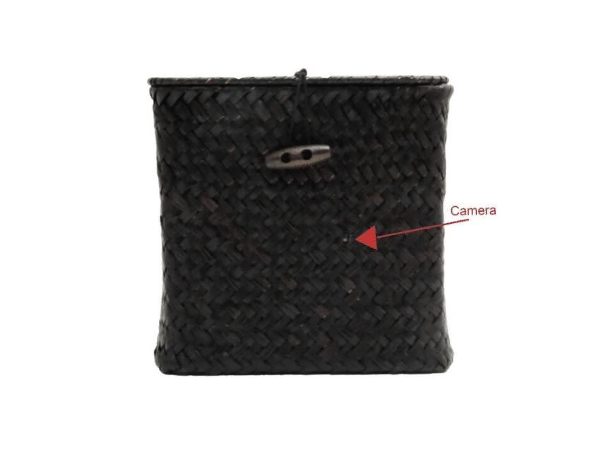 Hidden camera in tissue box