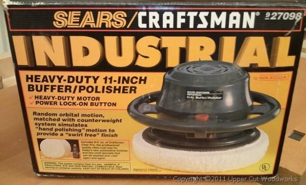 Sears 11 inch Buffer/Polisher with 3 cotton bibs, no polishing compound. $10.