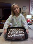Upper Cut Woodworks Two Year Anniversary Cake