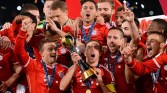 Here we see the boys of Bayern celebrating their Club World Cup title.