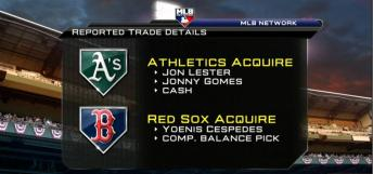 The Jon Lester-Yoenis Cespedes trade, detailed graphically via MLB Network.