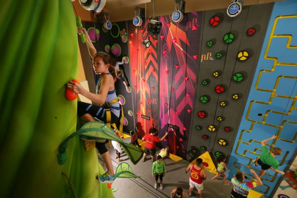 wacky walls youth climbing upper limits indoor rock climbing gym chesterfield fitness kids